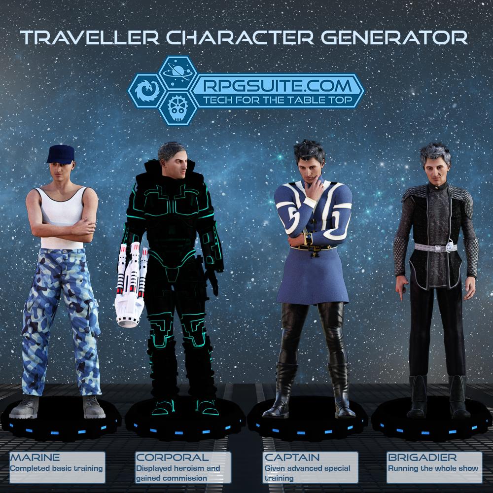 Traveller Character Generator (TCG) | RPGsuite