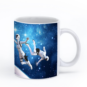 blue space mug