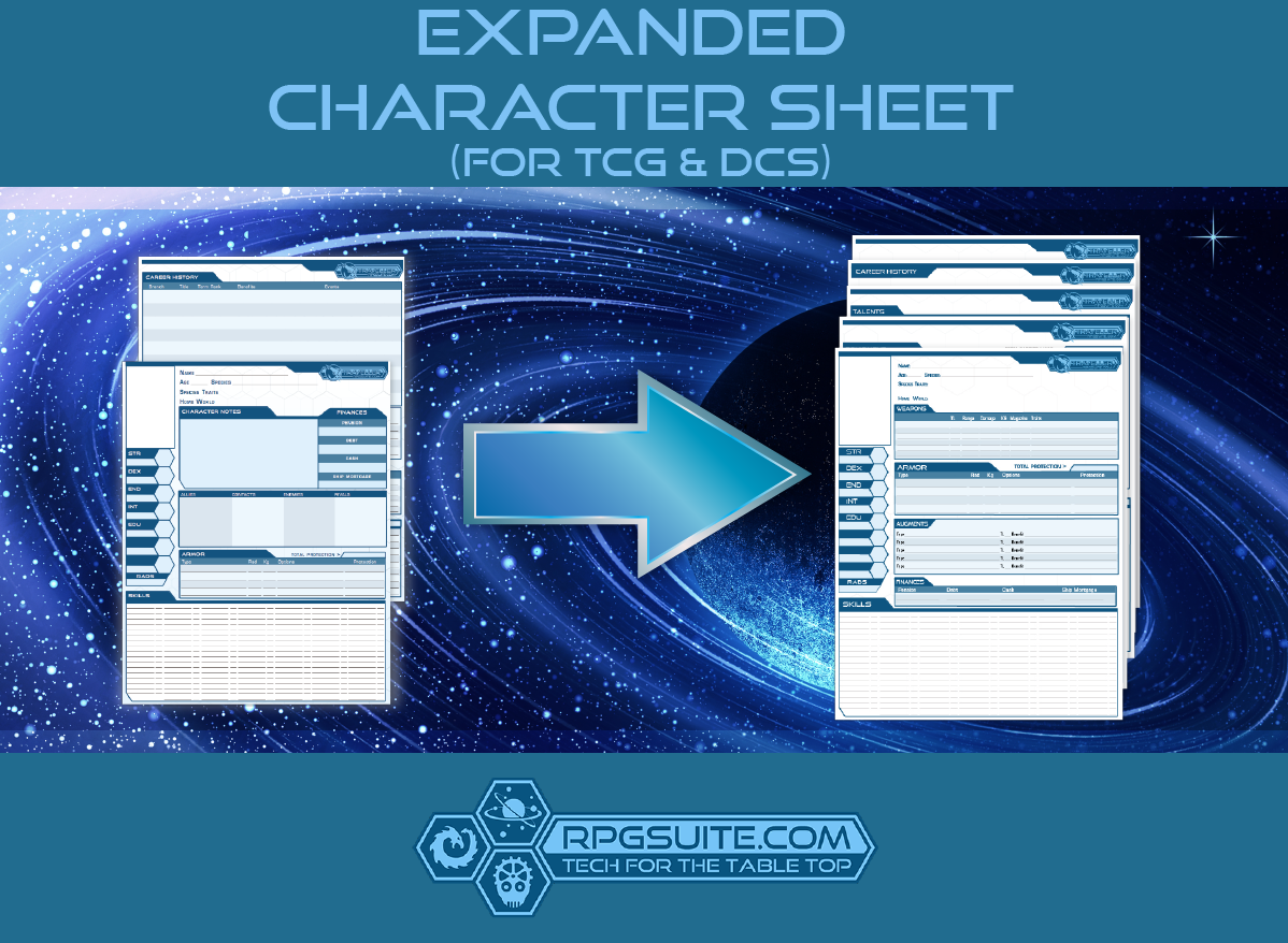 Expanded Character Sheet (For TCG & DCS)